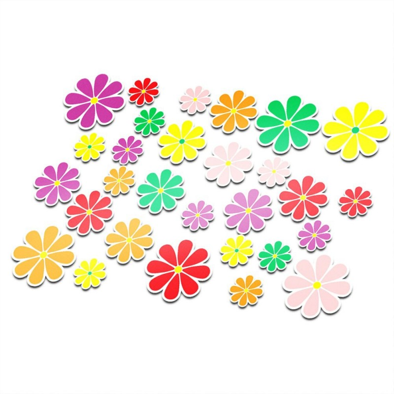 Fietsstickers bloemen set 2
