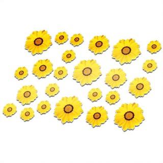 Fiets stickers bloemen set 3