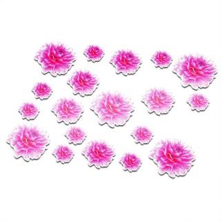 Fiets stickers bloemen set 4
