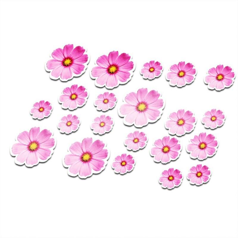 Fiets stickers bloemen set 6