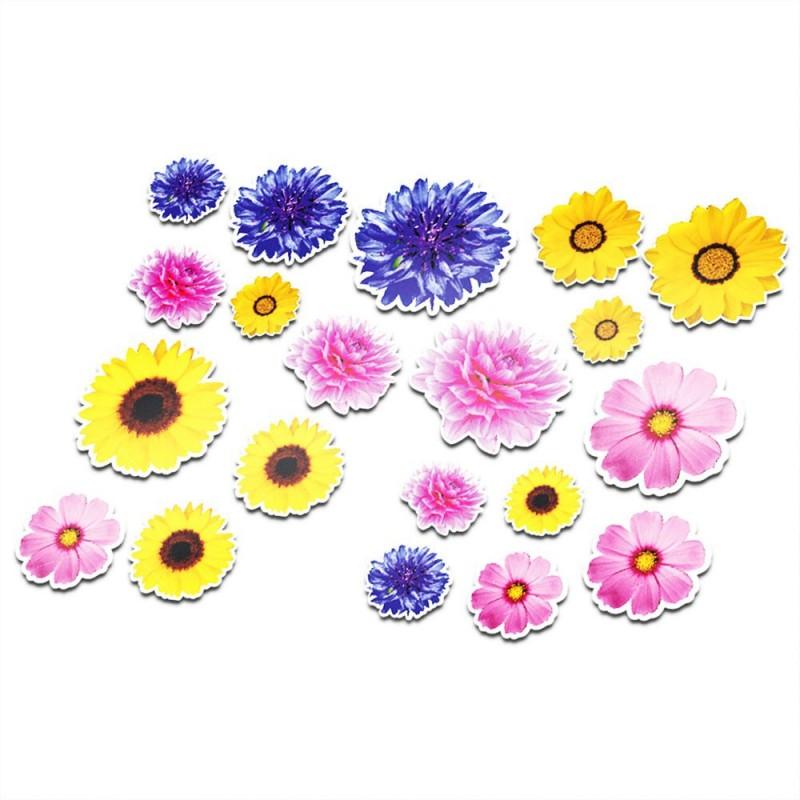 Fiets stickers bloemen set 7