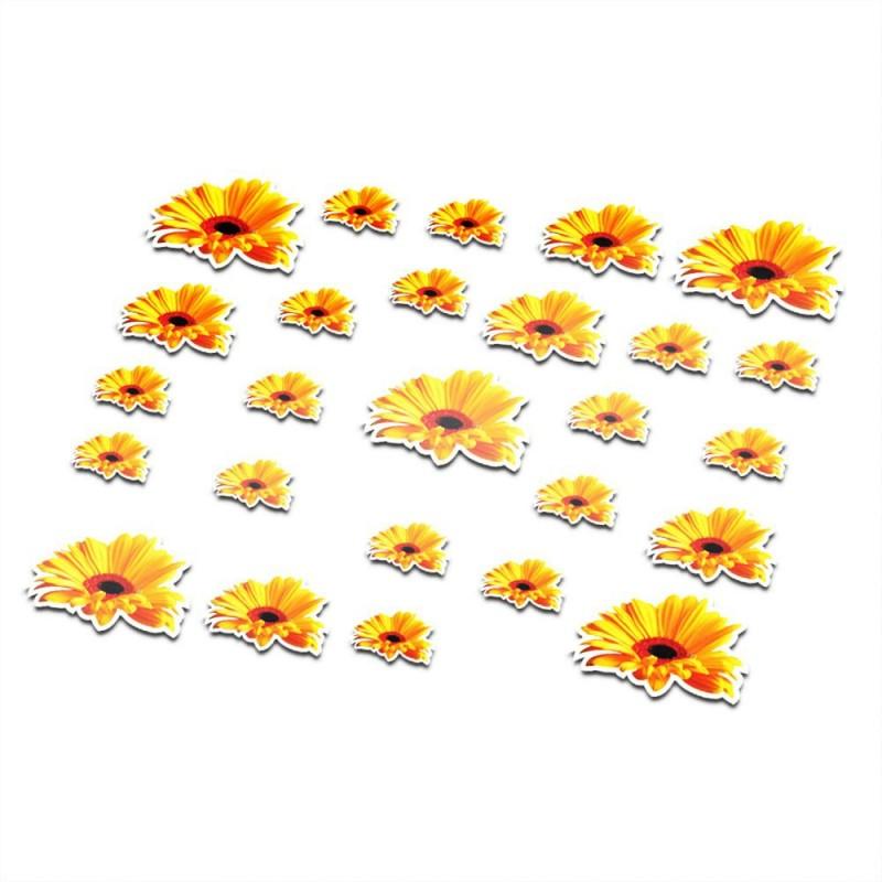 Fiets stickers bloemen set 8