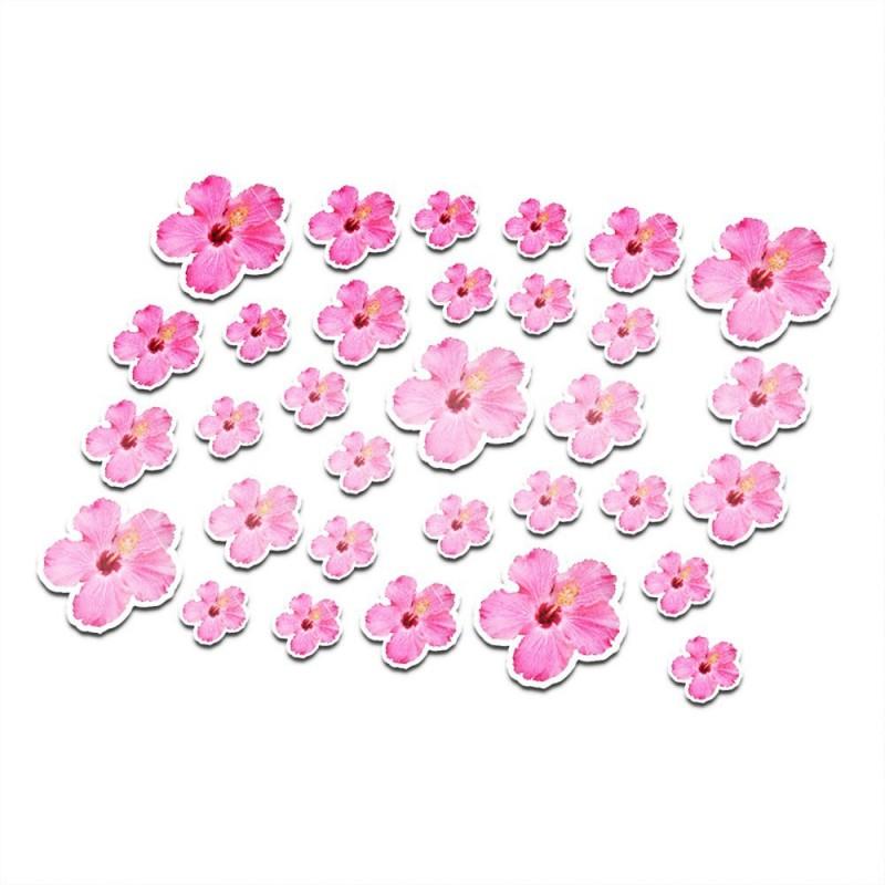Fiets stickers bloemen set 9 full color
