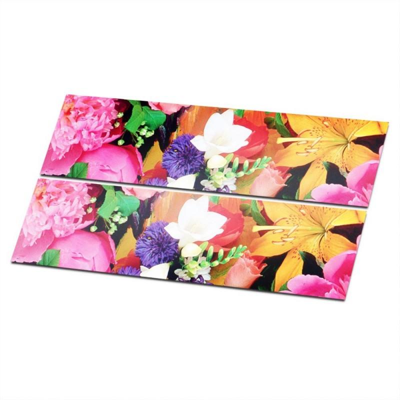Stroken Bloemen type 3 Fiets stickers