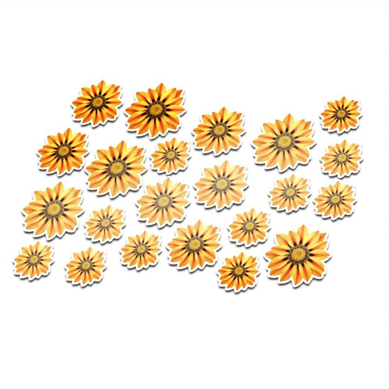 Fietssticker bloemen set 11