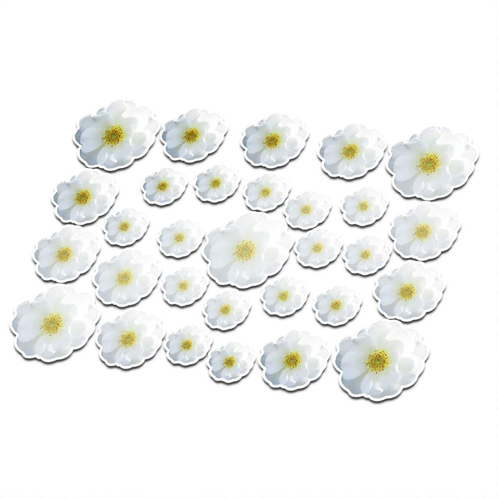 Fiets sticker bloemen set 12