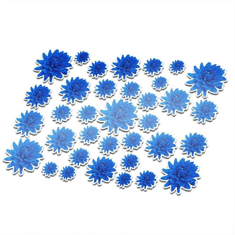 Fietsstickers bloemen set 13