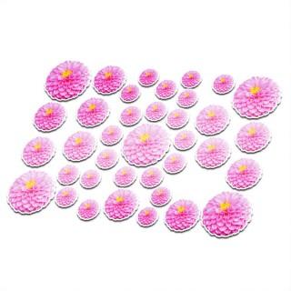 Fietsstickers bloemen set 14