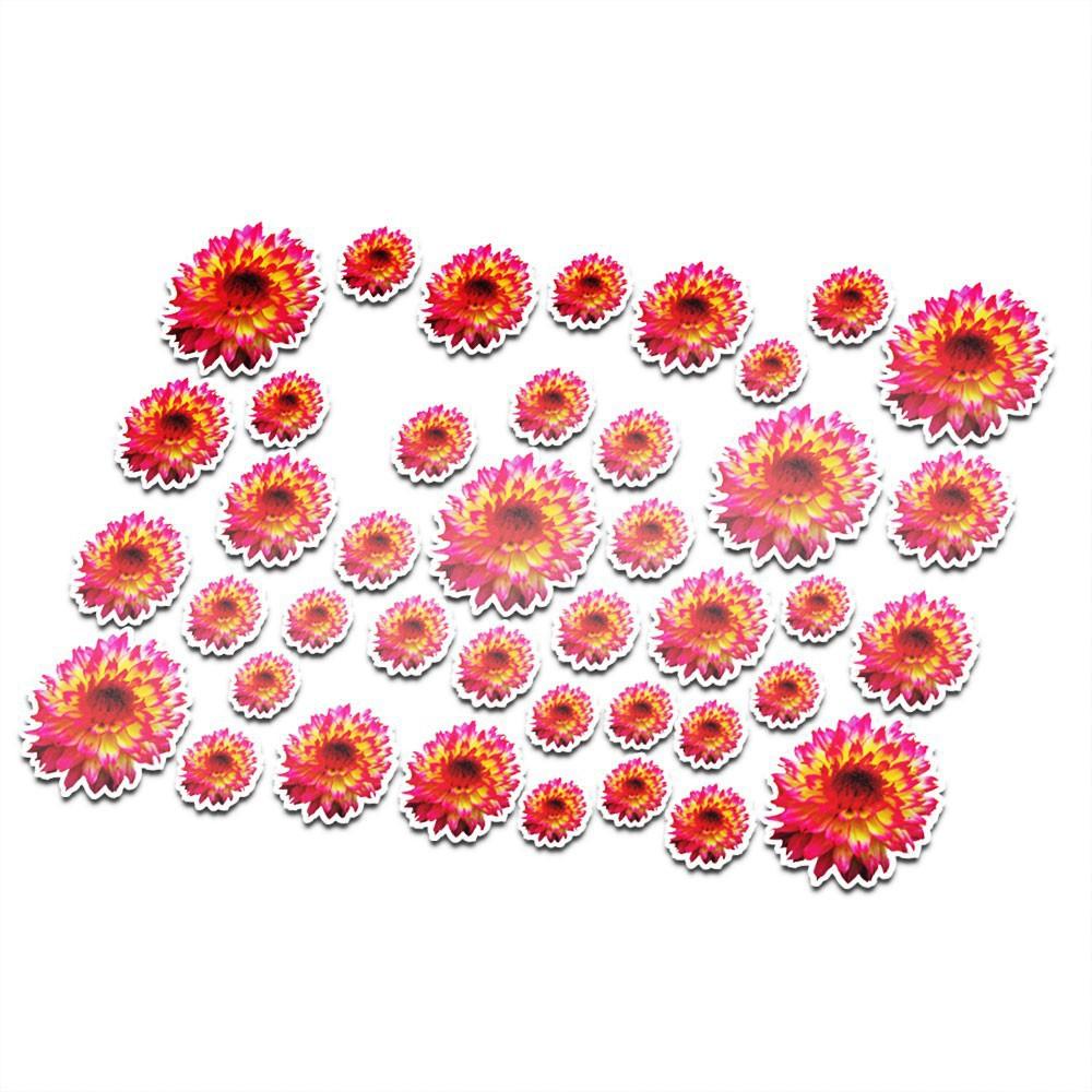 Fietsstickers bloemen set 15