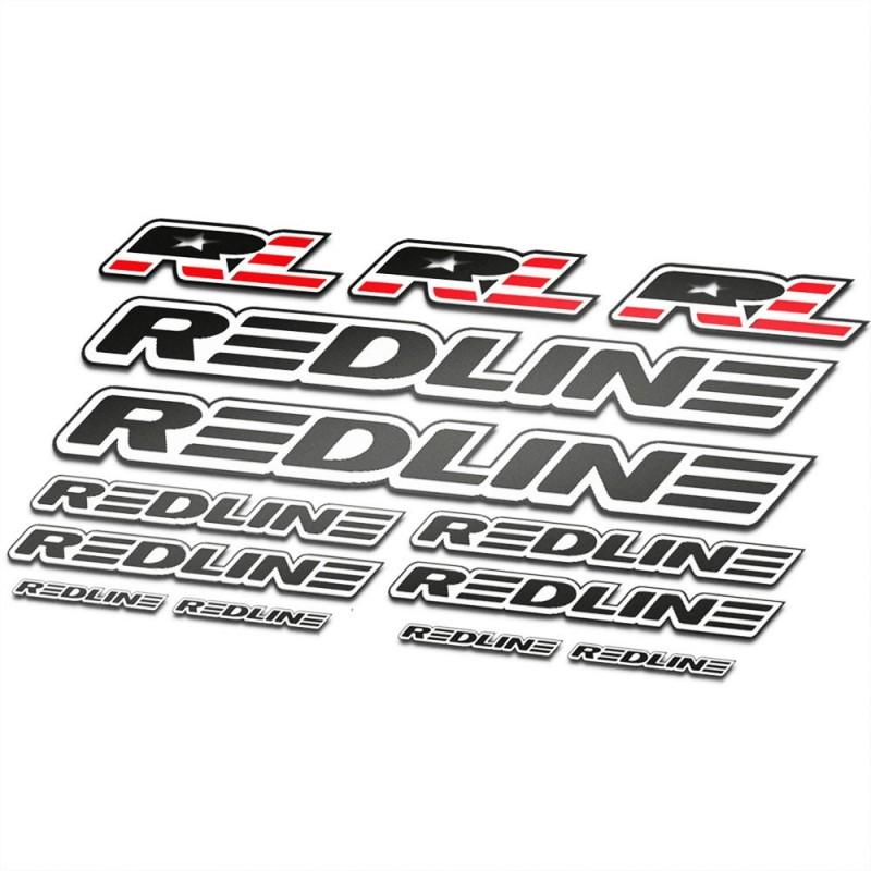 BMX Redline Sticker Set Zwart