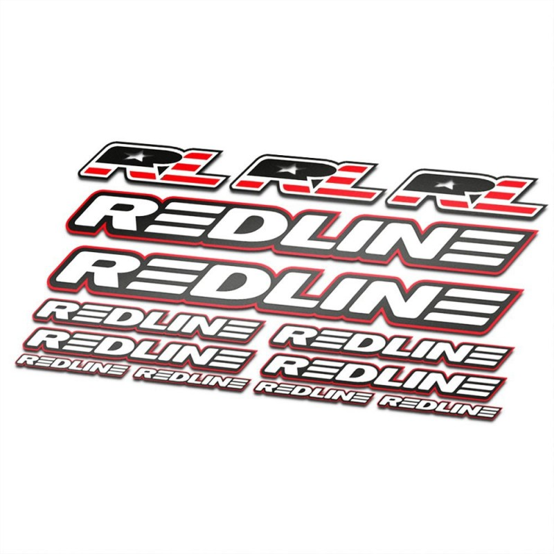 BMX Redline Sticker Set Wit