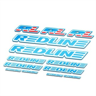 BMX Redline Sticker Set Blauw