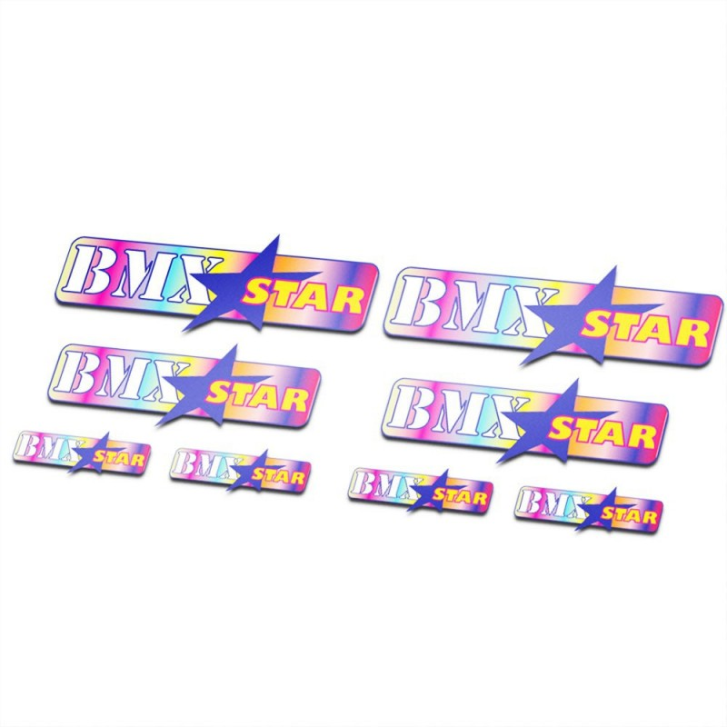 BMX Stickers Fiets Set Star color