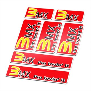 BMX Mac. Stickers fiets Set