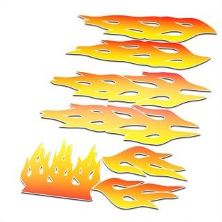 BMX Vlammen Stickers fiets Set Oranje