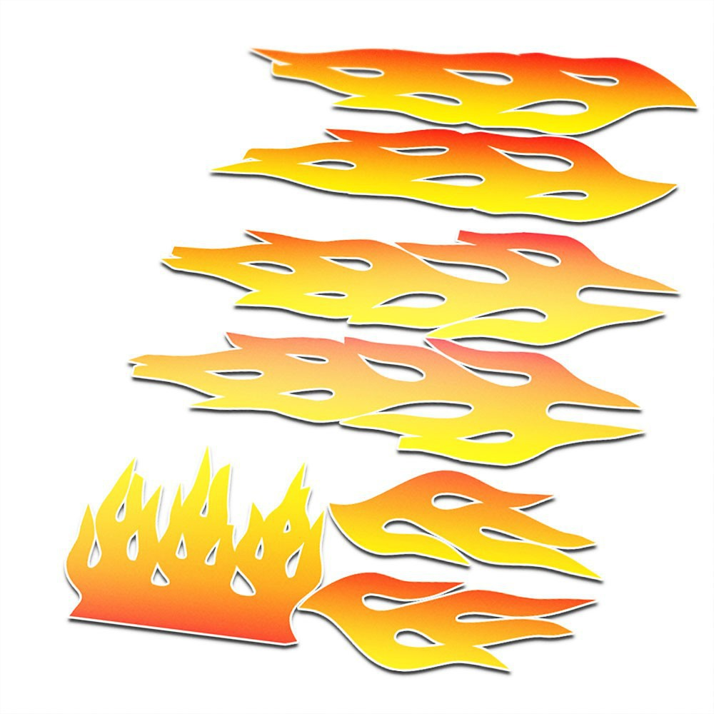 BMX Vlammen Stickers fiets Oranje