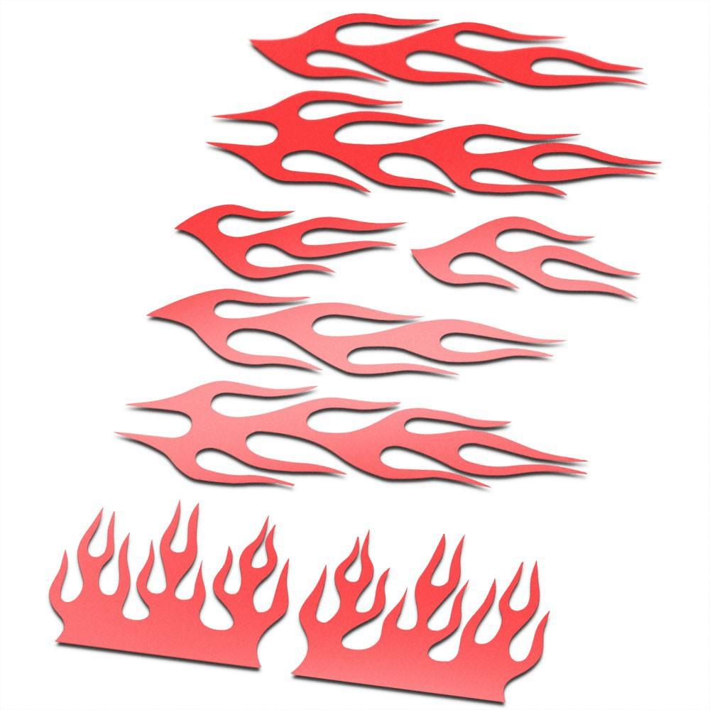 BMX Vlammen Stickers fiets Set Rood