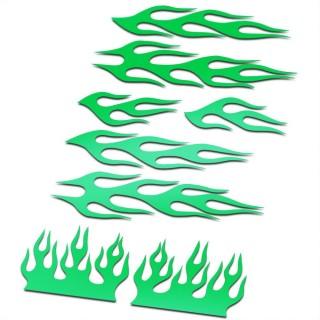 BMX Vlammen Stickers fiets Set Groen
