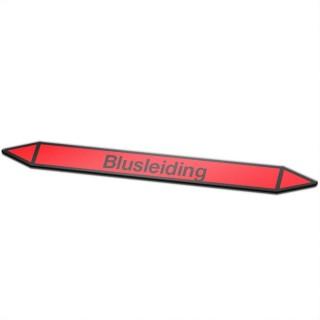 Blusleiding Pictogramsticker Leidingmarkering