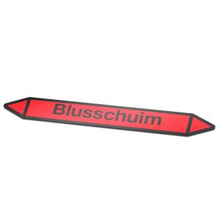 Blusschuim Pictogramsticker Leidingmarkering