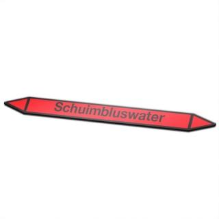 Schuimbluswater Pictogramsticker Leidingmarkering