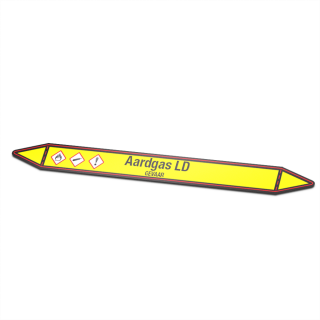 Aardgas-LD Pictogramsticker Leidingmarkering