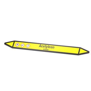 Acetyleen Pictogramsticker Leidingmarkering