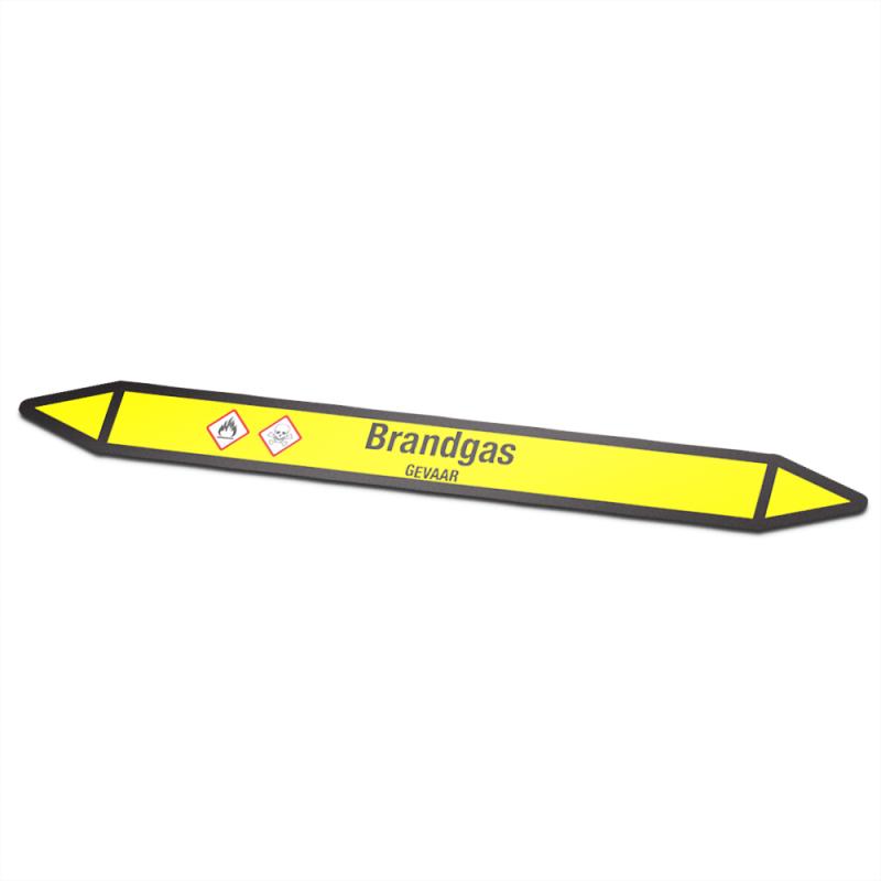 Brandgas Pictogramsticker Leidingmarkering