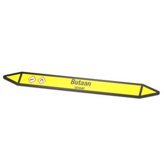Butaan Pictogramsticker Leidingmarkering