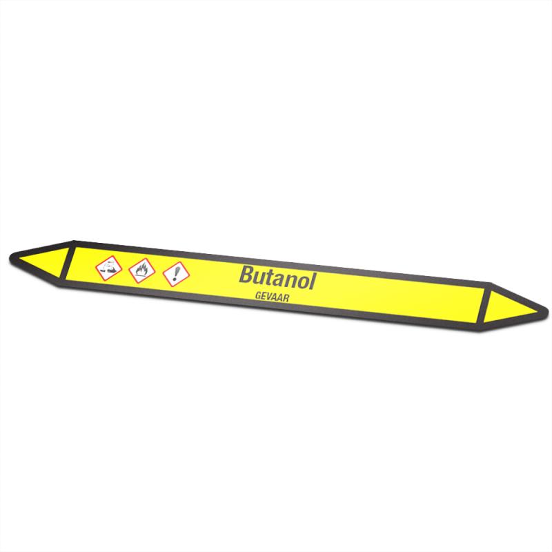 Butanol Pictogramsticker Leidingmarkering