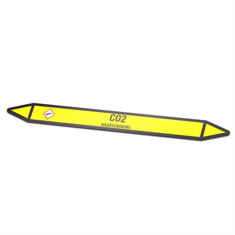 Co2 Pictogramsticker Leidingmarkering