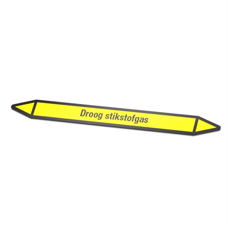 Droog stikstofgas Pictogramsticker Leidingmarkering