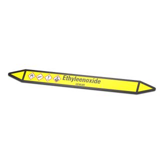 Ethyleenoxide Pictogramsticker Leidingmarkering