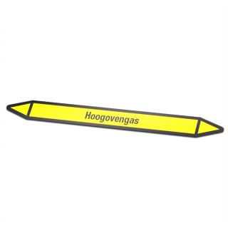 Hoogovengas Pictogramsticker Leidingmarkering