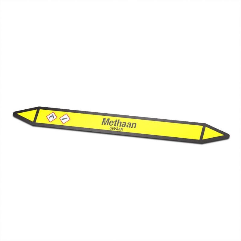 Methaan Pictogramsticker Leidingmarkering