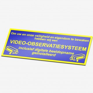 Video observatiesysteem stickers