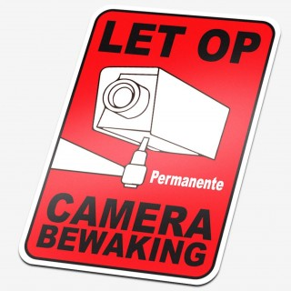 Permanente Camera Bewaking sticker
