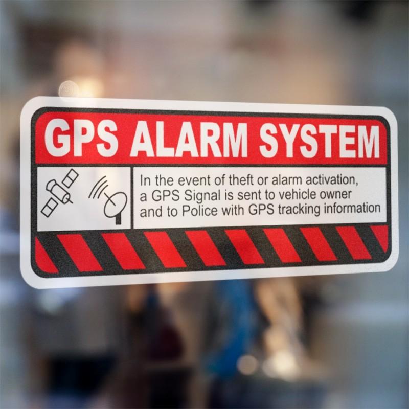 Auto beveiliging GPS foto auto sticker