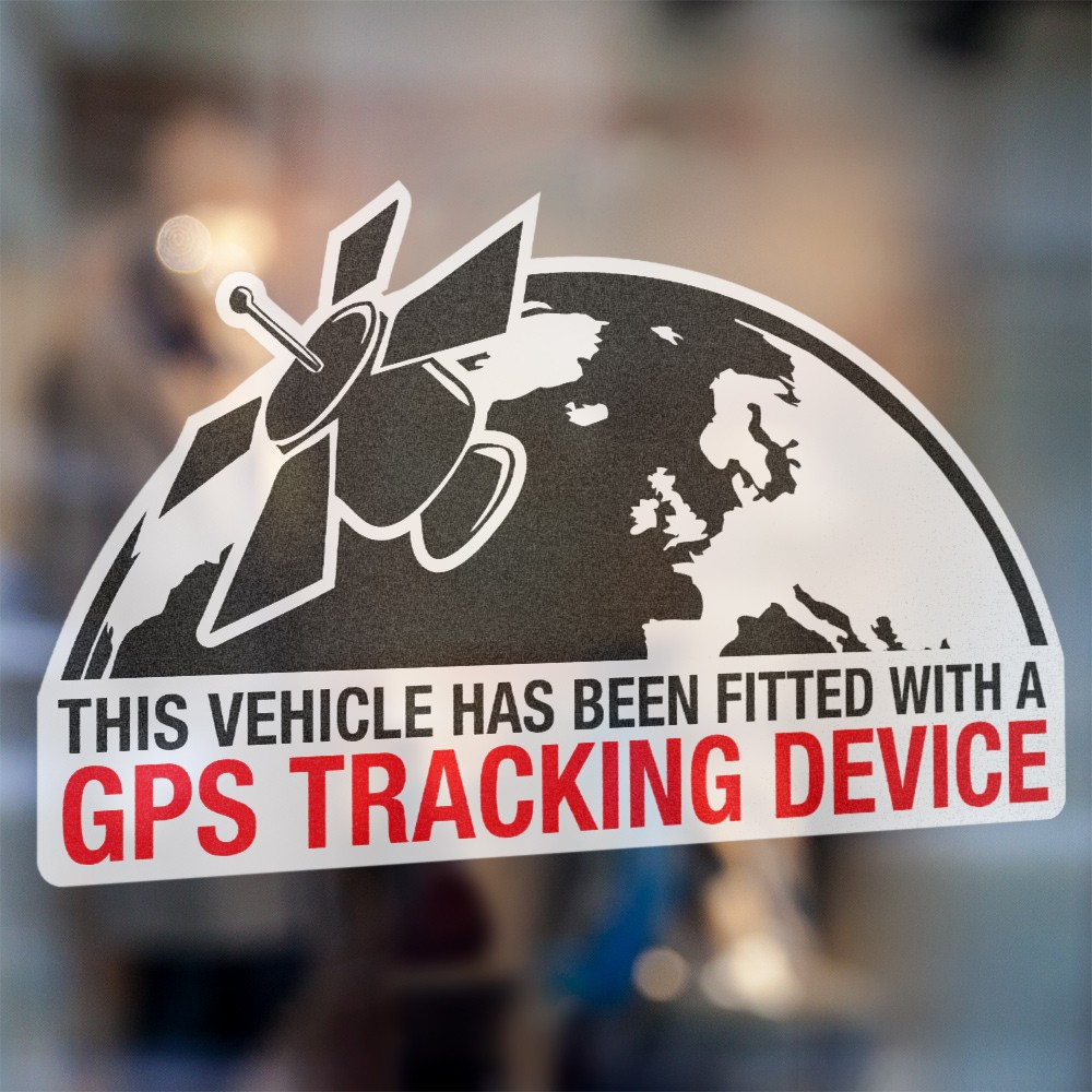 Planeet GPS Tracking Device sticker