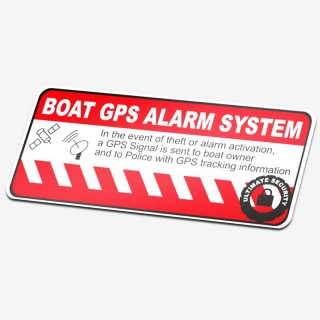 Boot GPS alarmsticker