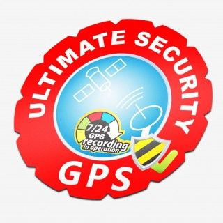 GPS alarm sticker boot rond