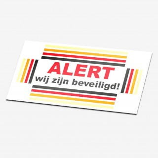 Inbraakbeveiliging alert sticker
