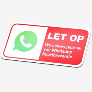 Whatsapp buurtpreventie stickers