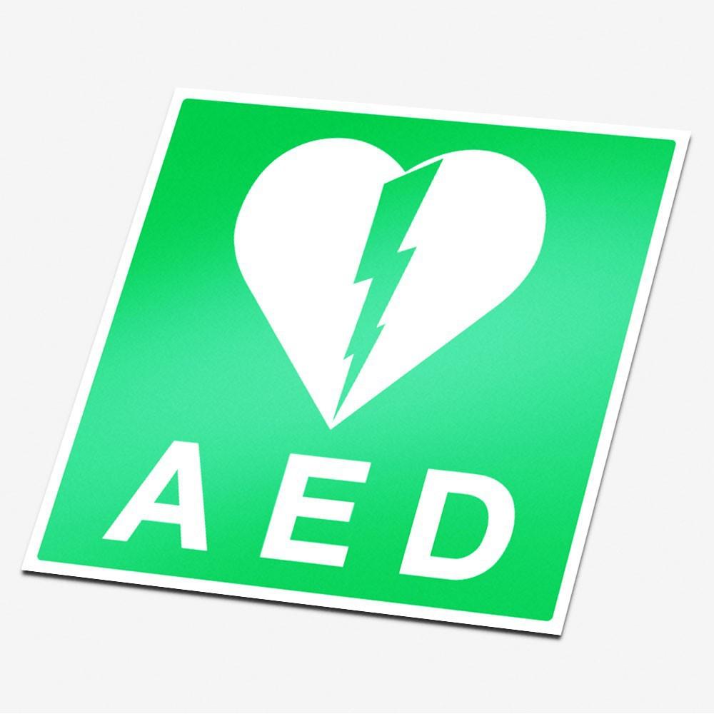 AED Sticker veiligheid