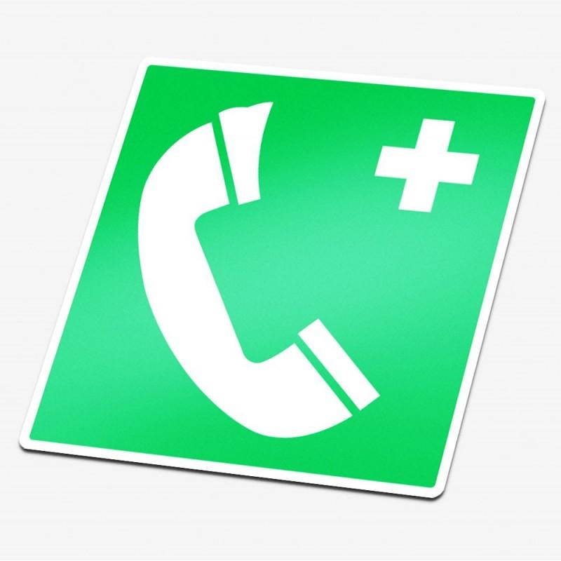 Noodtelefoon type 2 sticker veiligheid pictogrammen