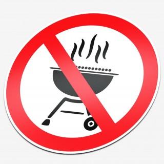 Verboden te BBQ'en