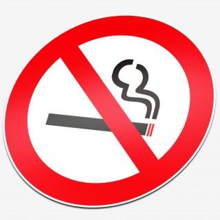 Verboden te roken Normal stickers pictogrammen
