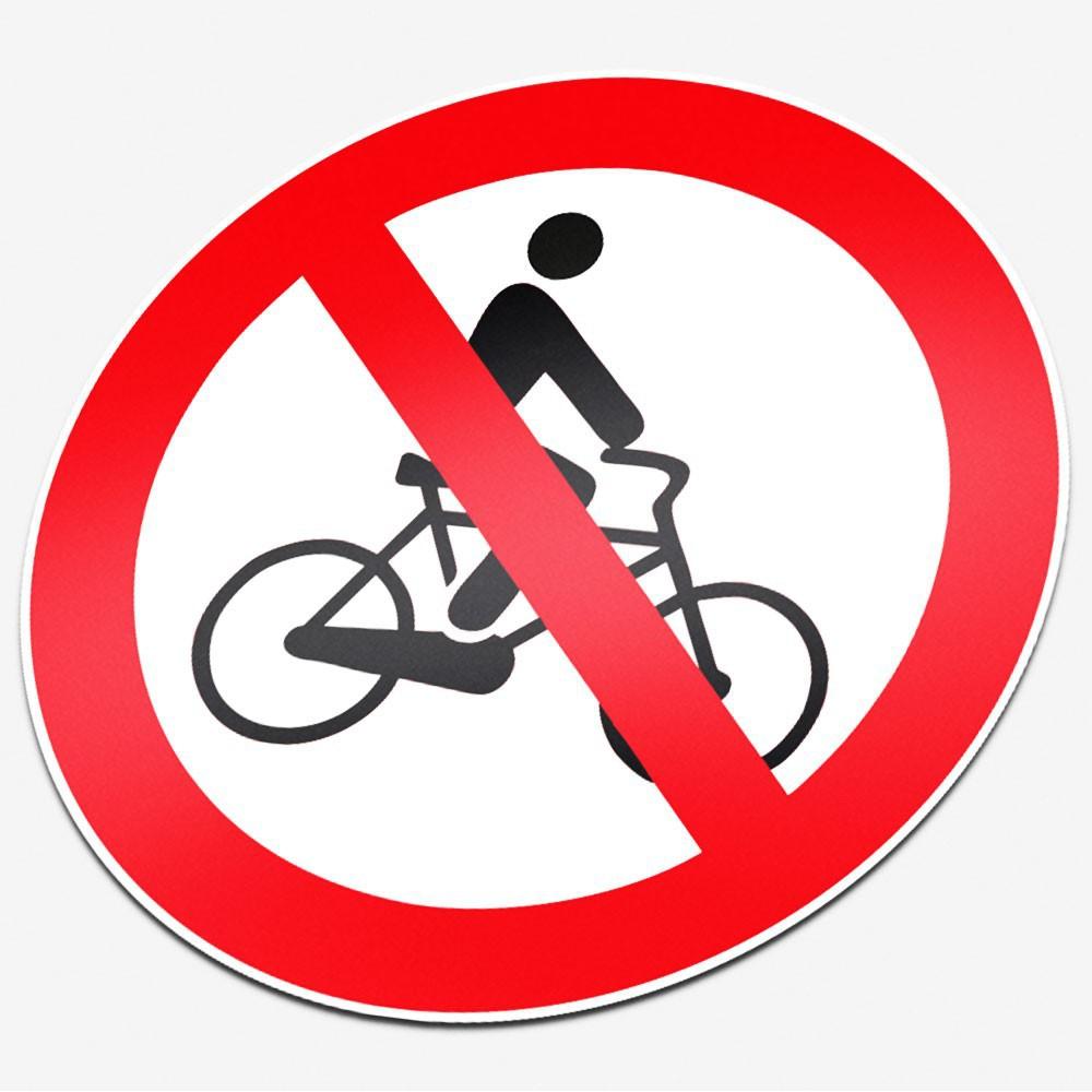 Verboden te fietsen