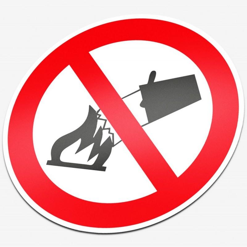 Verboden te blussen met water
