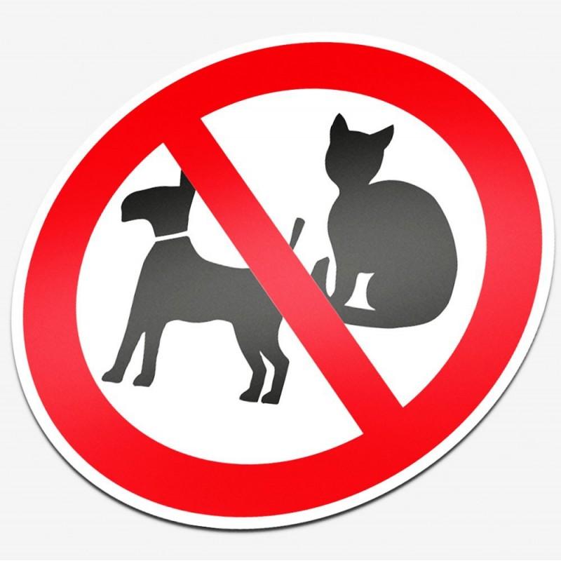 Verboden voor huisdieren